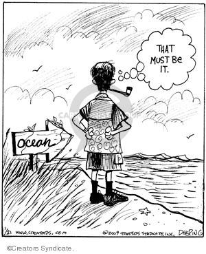 Cartoonist John Deering  Strange Brew 2009-01-21 arrow