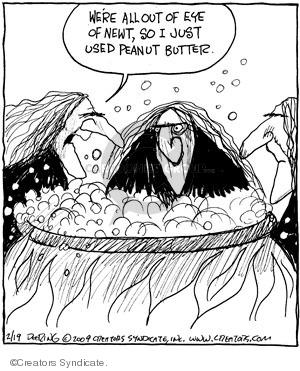 Comic Strip John Deering  Strange Brew 2009-02-19 ingredient