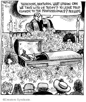 Cartoonist John Deering  Strange Brew 2009-03-17 arrow