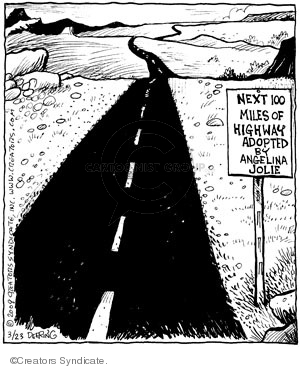 Cartoonist John Deering  Strange Brew 2009-03-23 highway