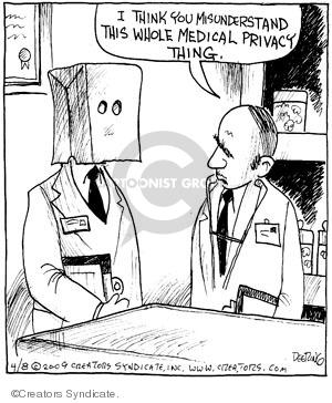 Comic Strip John Deering  Strange Brew 2009-04-08 medical