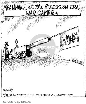 Cartoonist John Deering  Strange Brew 2009-04-23 recession