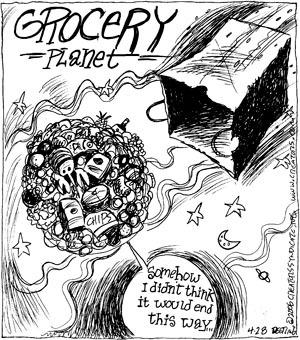 Comic Strip John Deering  Strange Brew 2009-04-28 think