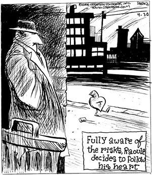 Cartoonist John Deering  Strange Brew 2009-04-30 heart