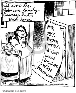 Comic Strip John Deering  Strange Brew 2009-05-14 food