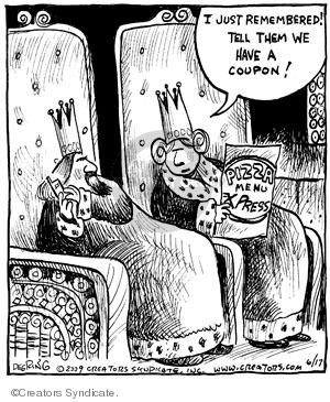 Comic Strip John Deering  Strange Brew 2009-06-17 food delivery