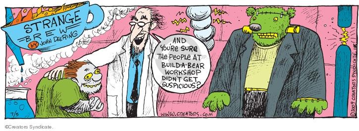 Comic Strip John Deering  Strange Brew 2009-07-05 build
