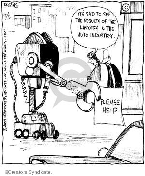 Cartoonist John Deering  Strange Brew 2009-07-03 unemployment