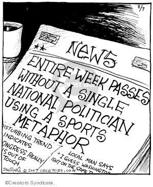 Cartoonist John Deering  Strange Brew 2009-08-07 use