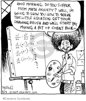 Comic Strip John Deering  Strange Brew 2009-08-13 math anxiety