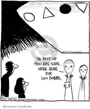 Comic Strip John Deering  Strange Brew 2009-08-22 martian
