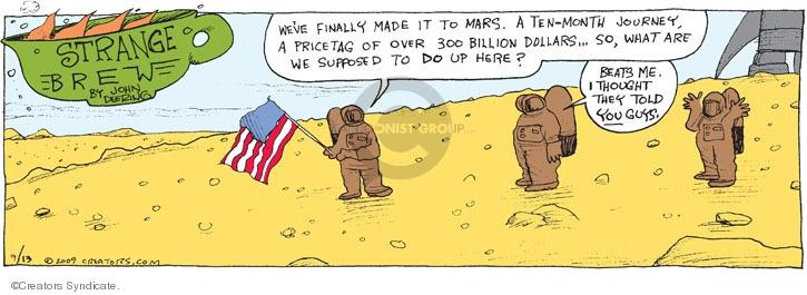 Comic Strip John Deering  Strange Brew 2009-09-13 red