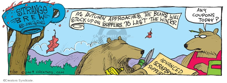 Comic Strip John Deering  Strange Brew 2009-09-20 stock