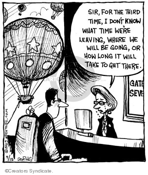Comic Strip John Deering  Strange Brew 2009-09-15 travel