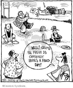 Well! Seems the press is certainly having a field day!