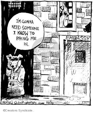 Comic Strip John Deering  Strange Brew 2009-10-10 undercover