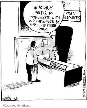 Comic Strip John Deering  Strange Brew 2009-10-14 telephone