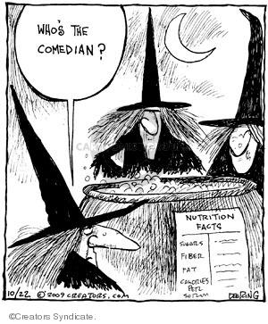 Comic Strip John Deering  Strange Brew 2009-10-22 food label