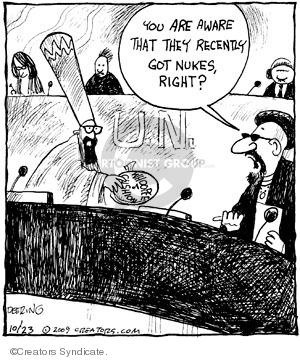 Comic Strip John Deering  Strange Brew 2009-10-23 atomic