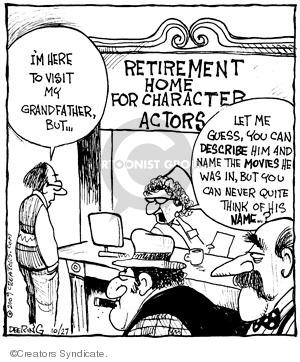 Comic Strip John Deering  Strange Brew 2009-10-27 grandparent