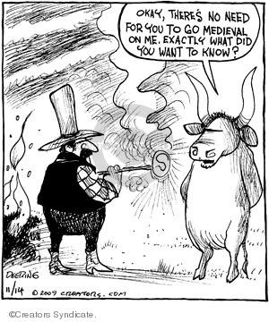 Cartoonist John Deering  Strange Brew 2009-11-14 bull