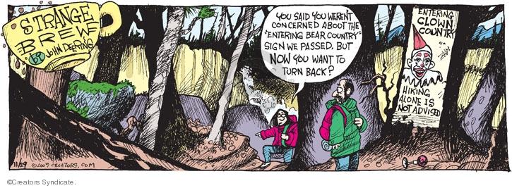 Comic Strip John Deering  Strange Brew 2009-11-29 outdoors