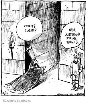 Cartoonist John Deering  Strange Brew 2009-11-26 monarch