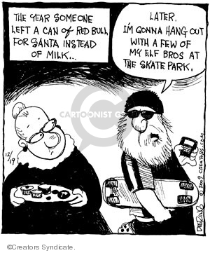 Cartoonist John Deering  Strange Brew 2009-12-19 traditional