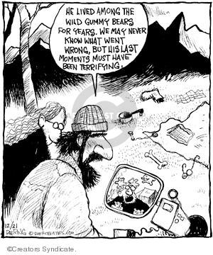 Comic Strip John Deering  Strange Brew 2009-12-21 bear attack