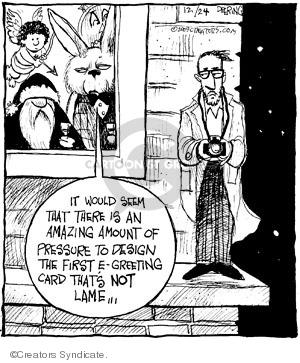 Comic Strip John Deering  Strange Brew 2009-12-24 greeting card