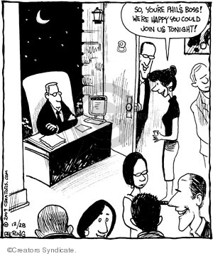 Cartoonist John Deering  Strange Brew 2009-12-28 party