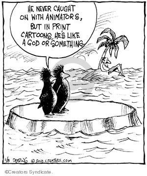 Comic Strip John Deering  Strange Brew 2010-01-08 catch