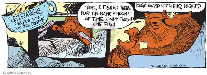 Comic Strip John Deering  Strange Brew 2010-01-17 wildlife