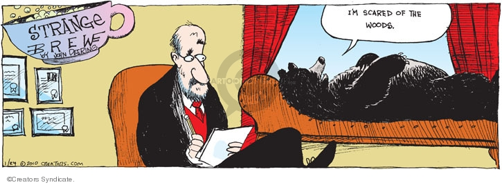 Comic Strip John Deering  Strange Brew 2010-01-24 wildlife