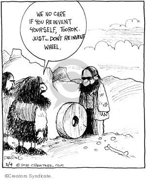 Comic Strip John Deering  Strange Brew 2010-02-04 change clothes