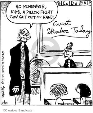 Cartoonist John Deering  Strange Brew 2010-02-10 teacher