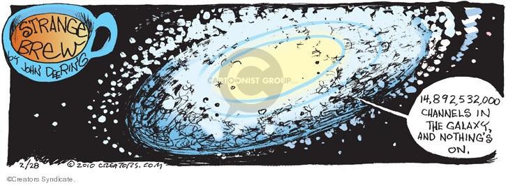 Comic Strip John Deering  Strange Brew 2010-02-28 television viewer