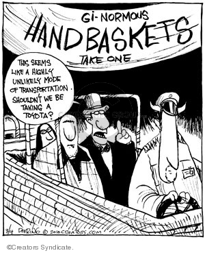 Comic Strip John Deering  Strange Brew 2010-03-04 car manufacturer