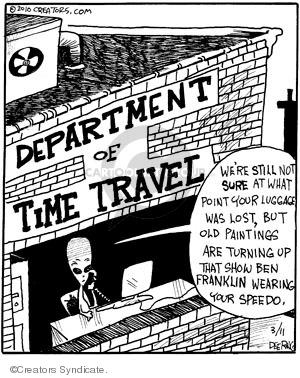 Comic Strip John Deering  Strange Brew 2010-03-11 clothing