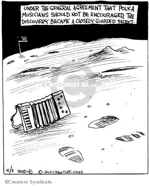 Cartoonist John Deering  Strange Brew 2010-04-03 guard