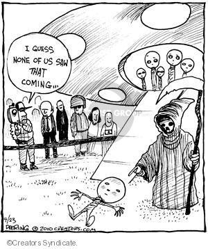 Comic Strip John Deering  Strange Brew 2010-04-23 surprise