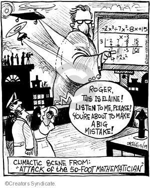 Comic Strip John Deering  Strange Brew 2010-05-19 algebra