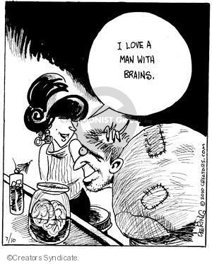 Comic Strip John Deering  Strange Brew 2010-07-10 brain