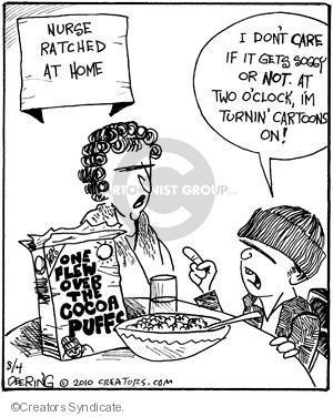 Cartoonist John Deering  Strange Brew 2010-08-04 television cartoon