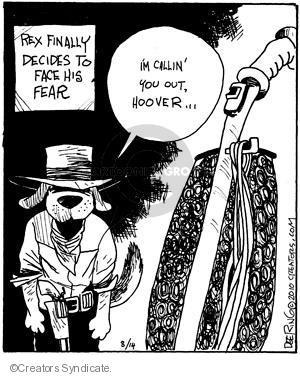 Comic Strip John Deering  Strange Brew 2010-08-14 gunfight