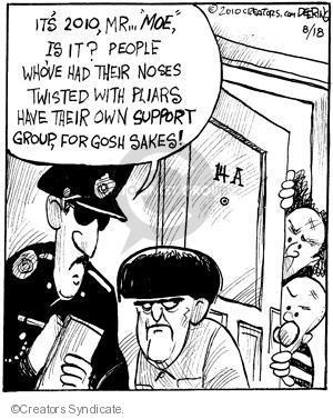 Cartoonist John Deering  Strange Brew 2010-08-18 television cartoon