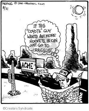Cartoonist John Deering  Strange Brew 2010-08-31 television cartoon