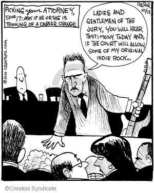 Comic Strip John Deering  Strange Brew 2010-10-13 justice