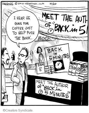 Cartoonist John Deering  Strange Brew 2010-10-20 book marketing