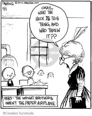 Cartoonist John Deering  Strange Brew 2010-11-11 teacher